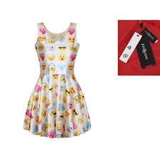 emoji robe find dress robe femme sexy robe avec emoji impression col rond été