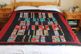 superhero quilt marvel comics and patchwork for boys glee and