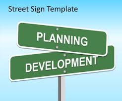 free street sign powerpoint template free powerpoint templates
