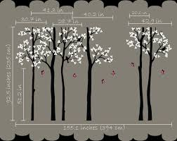 White Tree Wall Decal For Nursery by Butterfly Tree Baby Wall Decals Large Tree Forest Wall Stickers