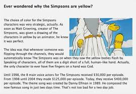 interesting facts about the simpsons part 2 others