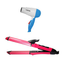 Hair Dryer And Straightener fashiondakia hair dryer straightener curler 2 in 1 set