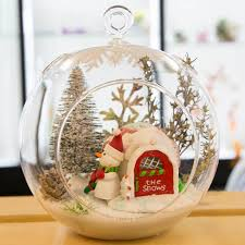 large glass terrarium ornament christmas holiday candy can home