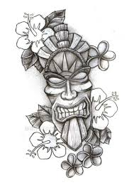 tiki pumpkin carving ideas cool tiki drawing tiki pinterest drawings tattoo and sketches