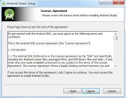 install android sdk and install android automation testing hub