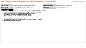 It Support Engineer Resume Sample by Desktop Support Engineer Job Title Docs