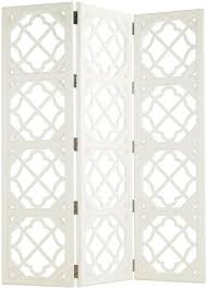 Quatrefoil Room Divider Bahama Home Ivory Key 3 Panel Abbotts Landing Folding Screen