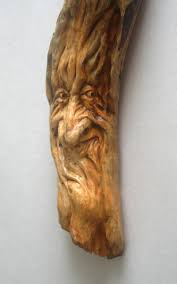 Cabin Decor Wood Spirit Carving Gnome Wizard Old Man Tree Sculpture Cabin