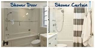 Shower Door Removal From Bathtub Shower Curtain Or Glass Door On Tub Gopelling Net