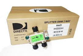 amazon com directv swm approved 2 way wide band splitter 2 pack