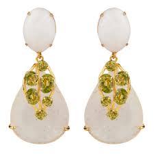 Peridot Chandelier Earrings Bridal Earrings