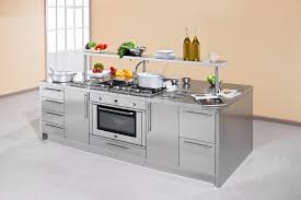 Kitchen With Center Island by Work Station Arca Cucine Italy Stainless Steel Kitchens