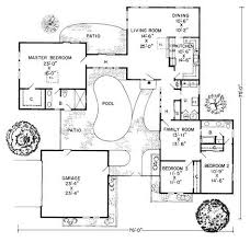 mediterranean floor plans with courtyard house plans with courtyard pool in the middle home deco plans