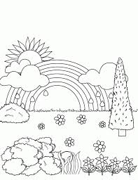 the amazing and attractive rainbow coloring page printable