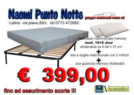 materasso memory roma offerta kit materasso rete a doghe guanciali fabbrica
