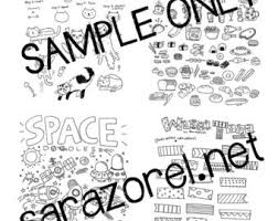 doodle with doodle with me printables set a borders banners