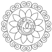 Rangoli coloring pages  Free Coloring Pages
