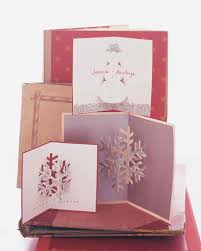 glittered pop up christmas cards martha stewart