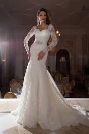 dh wedding dresses vestidos de noiva 2016 sleeves lace mermaid wedding dresses