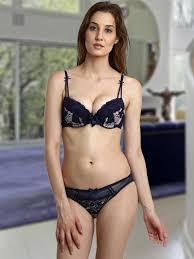 Wedding Lingerie Set Purchase Navy Blue Shyle Bra U0026 Panty Set Online In India Shop