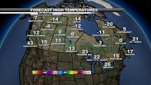 Canada Weather Map Forecast by Canada Current Temperatures