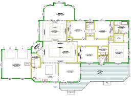 apartments large one story house plans open one story house