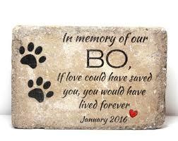 pet memorial pet memorial stones etsy