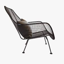 mid century sculptura garden lounge chair by woodard 3d model max