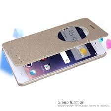 nillkin sparkle sleep window leather case cover for oppo f1 a35