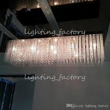 Star Light Chandelier Restaurant 100cm Extra Long Chandelier Crystal Light With G4 Led