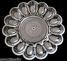glass egg plate indiana glass hobnail clear deviled egg plate depression