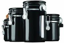 black canister sets for kitchen stainless steel kitchen canister sets ebay
