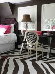 Pottery Barn Teen Rugs Bathroom Design Darien Residence Contemporary Bedroom Brown Zebra