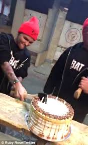 ruby rose is flabbergasted by her dj decks themed birthday cake