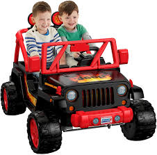 small jeep for kids amazon com power wheels tough talking jeep wrangler toys u0026 games