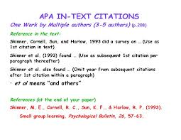 Reference In Resume Example by Apa Format Citation Journal Article Multiple Authors