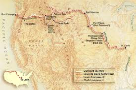 clark map national geographic map of lewis clark expedition