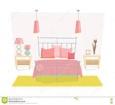 cute bedroom interior stock illustration image 75446052