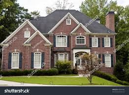 nice brick two story house on stock photo 43847596 shutterstock