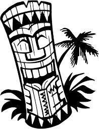 happy halloween clip art black and white hawaiian clip art black and white tiki clipart panda free