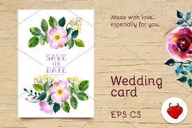 wedding watercolor postcard invitation templates creative market