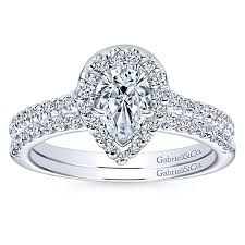 shaped engagement ring pear shaped engagement rings pear cut diamond rings gabriel co
