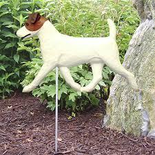 terrier outdoor garden sign painted figure