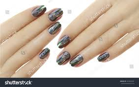 nail design manicure nail paint beautiful stock photo 545669392