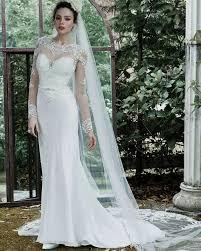 white long sleeve lace wedding dress naf dresses