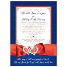 Royal Blue Wedding Invitations Wedding Invitation Photo Optional Royal Blue White Orange