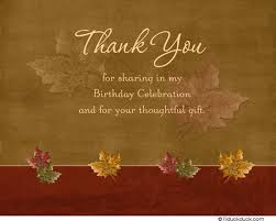 fall thank you card autumn maroon leaf adults