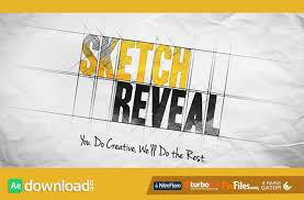 sketch reveal videohive free download free after effects