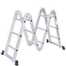 Fold Up Step Ladder by Scaffold Ladder Heavy Duty Giant Aluminum 12 5 Ft Multi Purpose