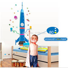 compare prices on rocket decals online shopping buy low price height chart decal children s room baby nursery cartoon sticker rocket wall art decal china